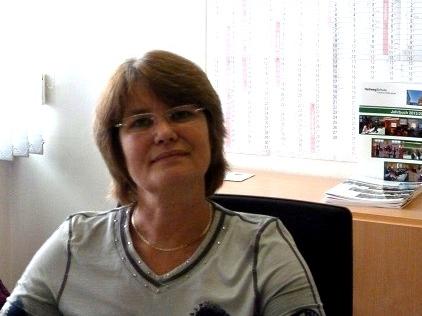 Die Sekretärin unserer Schule: Frau Bolte